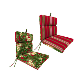 Jordan Ivory Floral and Striped Chair Cushion