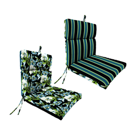 Jordan Floral and Striped Reversible Chair Cushion