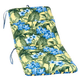 Floral and Striped High Back Chair Cushion