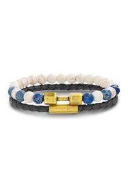 REINFORCEMENTS Stainless Steel White & Blue Stone