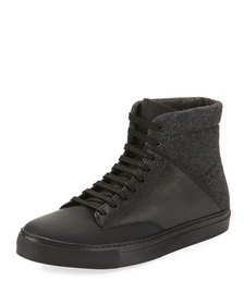 Jared Lang Men's Wool-Blend Lace-Up Boots