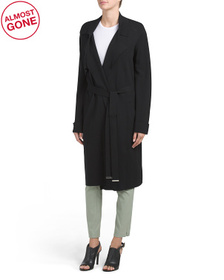 SOIA & KYO Long Belted Trench Coat
