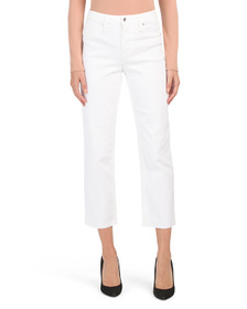 MAX STUDIO High Rise Vintage Straight Crop Jeans