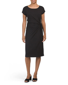 NICOLE MILLER Knit Side Tie Dress