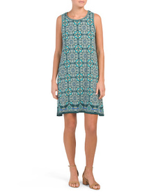 MAX STUDIO Square Within Geo Panel Jersey Dress