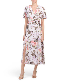 FRENCH CONNECTION Armoise Crepe Faux Wrap Dress