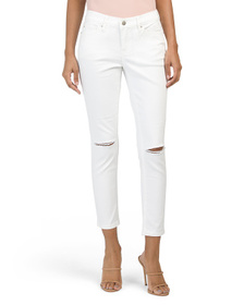 NICOLE MILLER NEW YORK High Rise Skinny Jeans With