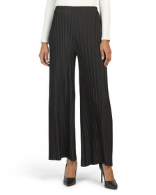 MILANO Ankle Length Silky Pleated Pull On Pants