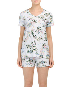 JACLYN INTIMATES Rolling Hills Floral Shorty Pajam