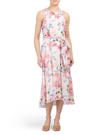 NICOLE MILLER Sleeveless Hi-lo Midi Dress