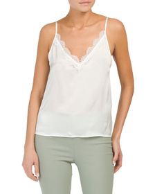 THE KOOPLES Silk & Lace Top