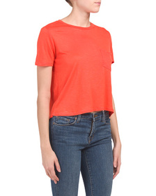 TRESICS Juniors Short Sleeve Boxy Top