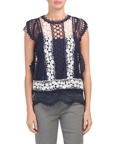 ADIVA All Over Lace Tank Top