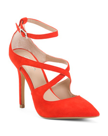 CHARLES BY CHARLES DAVID Pointy Toe Ankle Strap Pu