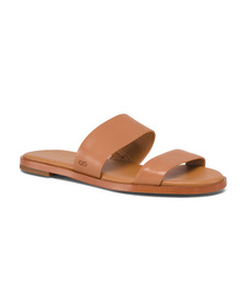 COLE HAAN Double Band Leather Slide Sandals