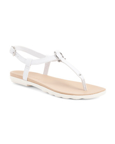 SPERRY Ankle Strap White Bottom Thong Sandals