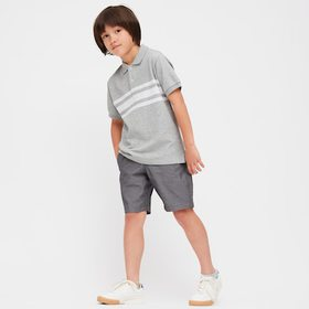 Kids Dry Pique Striped Short-Sleeve Polo Shirt, Gr