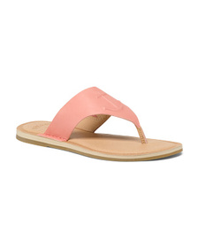 SPERRY Memory Foam Leather Thong Sandals