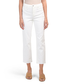 MAX STUDIO High Rise Vintage Straight Cropped Jean