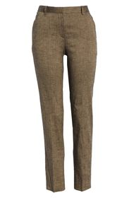 Theory Straight Leg Linen Blend Trousers