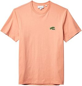Lacoste Short Sleeve Solid with Embroidered Animat