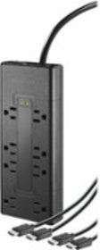8-Outlet Surge Protector with Two 8' 4K UltraHD/HD