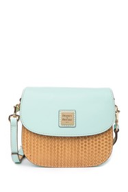 Dooney & Bourke Beacon Woven Leather Saddle Crossb