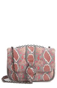 LONGCHAMP Amazone Convertible Snake Embossed Leath