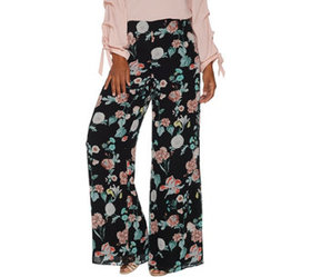 """As Is"" Vince Camuto Floral Gardens Wide- Leg Wove"