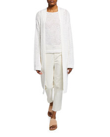 Theory Travel Open-Front Knit Cardigan