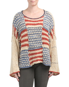 FREE PEOPLE American Flag Sweater