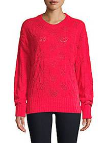 Ribbed Pullover Sweater BRIGHT RED