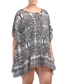 BLUE ISLAND Plus Lightweight Printed Cover-up