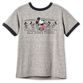 Disney Mickey Mouse Ringer T-Shirt for Boys – Walt