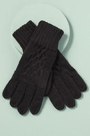 Anthropologie Cable-Knit Gloves