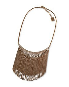 BCBGMAXAZRIA - Fringe Drop Statement Necklace, 17-