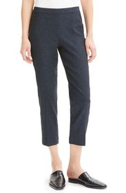 Theory Linen Blend Crop Pants