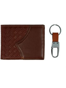 Umo Lorenzo Two Tone Bifold Wallet and Keychain Se