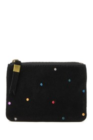 Madewell Embroidered Suede Zip Pouch Wallet