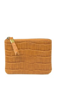 Madewell Croc Embossed Leather Zip Pouch Wallet