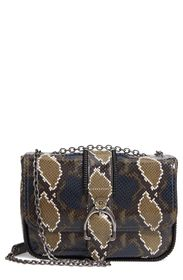 LONGCHAMP Amazone Snake Embossed Leather Small Cro