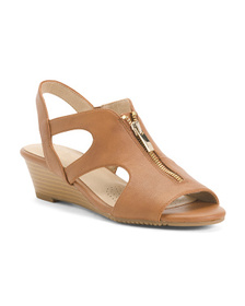 AEROSOLES Comfort Zip Wedge Sandals