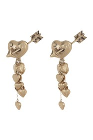 Valentino Antique Cupid Hearts Drop Earrings