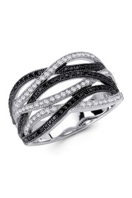 LaFonn Platinum Plated & Black Rhodium Plated Ster