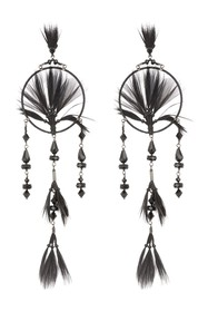Valentino Glam Beaded & Feather Dream Catcher Drop