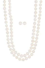 Carolee 7.5mm Cultured Freshwater Pearl Necklace &