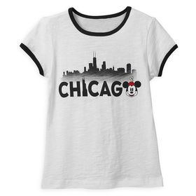 Disney Minnie Mouse Chicago Ringer T-Shirt Shirt f