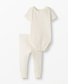 Hanna Andersson One Piece Set In Organic Cotton