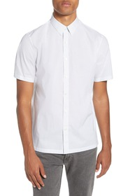 Theory Slim Fit Short Sleeve Cotton Button-Up Shir
