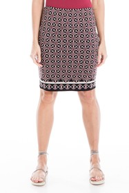 Max Studio Lightweight Knit Print Pencil Skirt